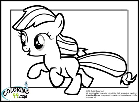 My Little Pony Coloring Pages Applejack Baby | my little pony applejack coloring pages minister coloring