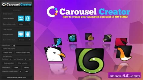 Carousel 187 Free After Effects Templates After Effects Intro Template Shareae After Effects Carousel Template