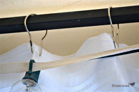 outdoor shower curtain ring an easy fix for hanging outdoor canopy curtains http www