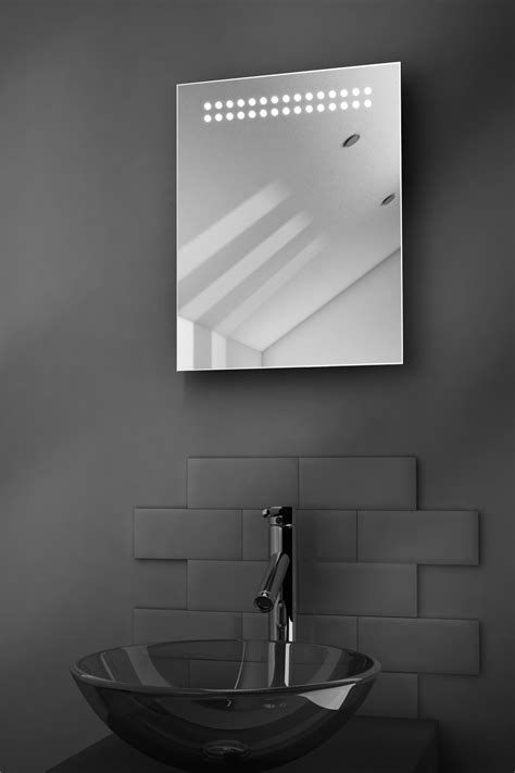 reflect shaver led bathroom illuminated mirror with