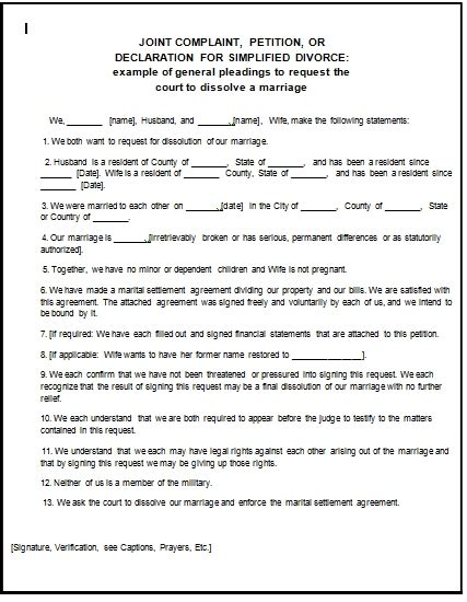 Court Papers Template
