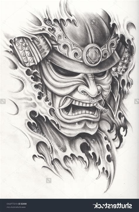 japanese warrior mask tattoos japanese samurai warrior