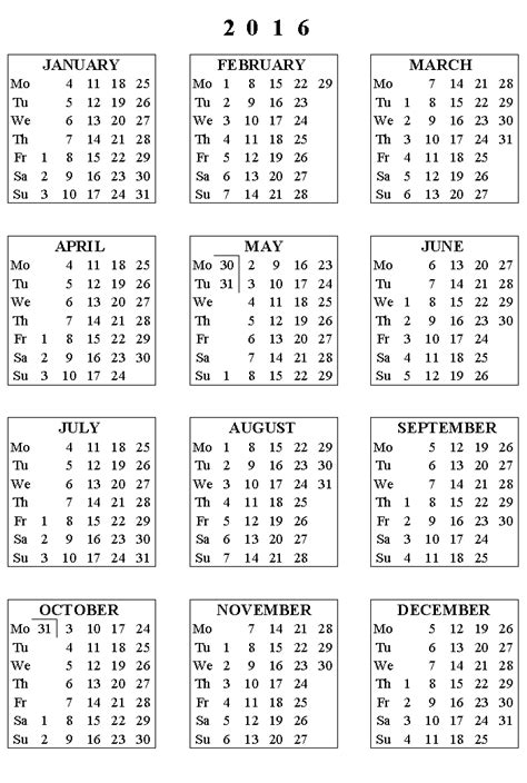 printable calendar 2016 with bank holidays 2016 calendar with federal bank holidays
