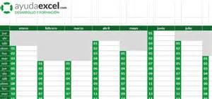 Calendario Por Semanas 2017 Excel Plantillas Calendario En Excel 2017 Ayuda Excel
