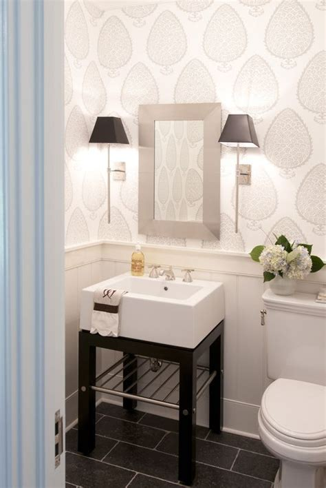 wallpaper bathroom designs 25 best ideas about small bathroom wallpaper on