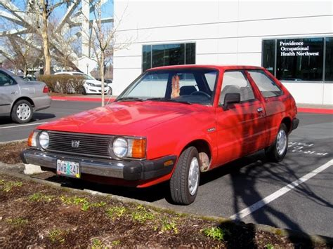 subaru hatchback 1980 parked cars 1985 subaru std 3 door hatchback