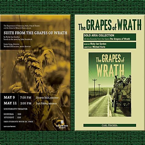 theme song from grapes of wrath steinbeck s grapes of wrath staged sung read at sjsu
