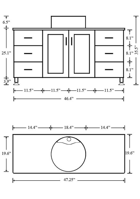 vanity dimensions for bathrooms what is the standard height of a bathroom vanity