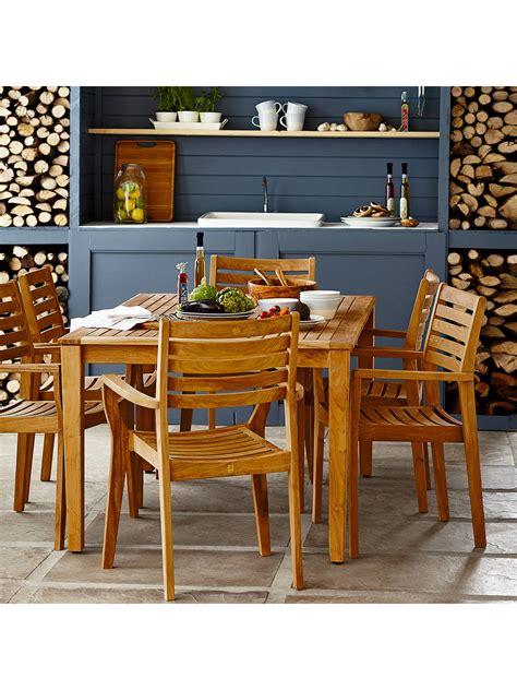john lewis longstock rectangle garden dining table