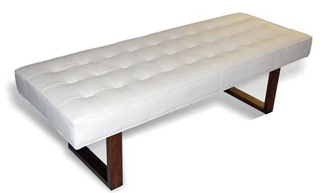 modern white bench retro modern white genuine leather bench ottoman coffee
