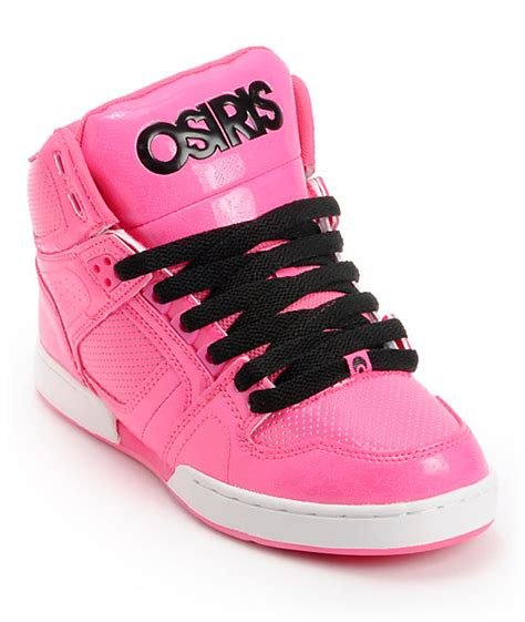 osiris nyc 83 pink pink black skate shoe at zumiez