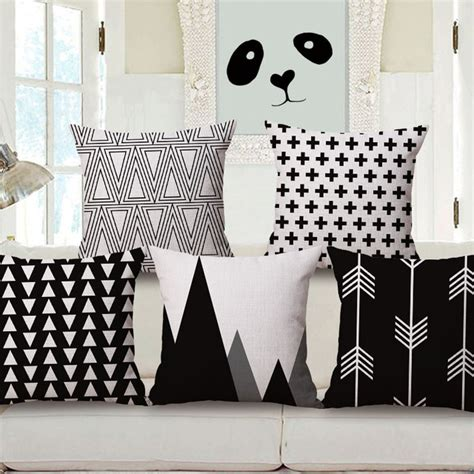 aliexpress com buy nordic simply geometric pillow home nordic style fashion decorative pillow set of black and
