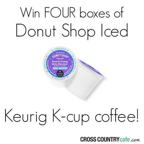 K Cup Giveaway - donut shop iced keurig k cup coffee giveaway shesaved 174