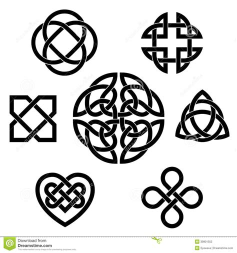 celtic design elements vector variety of celtic knots stock vector illustration of