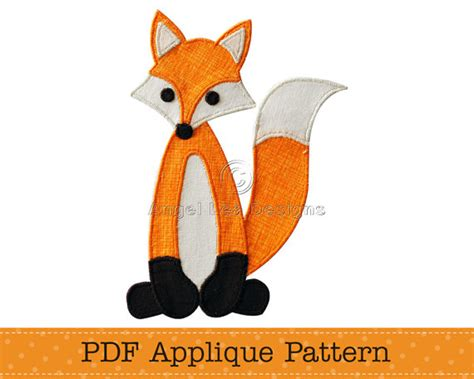 fox applique pattern pdf fox applique template diy applique
