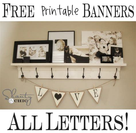 free printable wall art letters more free printable banners numbers shapes shanty