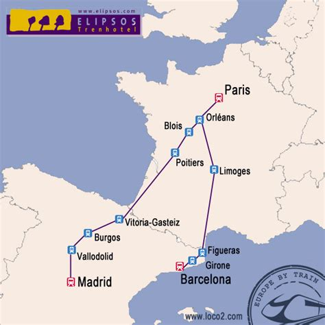 barcelona to paris train london to barcelona by train with the elipsos trenhotel