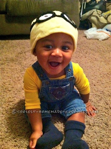 Handmade Baby Costumes - coolest baby costume merry minion mischief