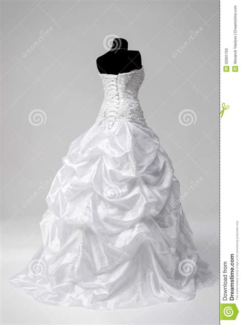 wedding dress on a mannequin stock image image of object