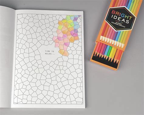 anti stress colouring book with pencils anti stress coloring book with bright ideas neon pencils