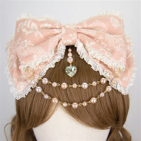 ts 120pcs new 2016 colorful lace headband hair rope rubber lolita hair bow headband laurie pink ivory lace detachable