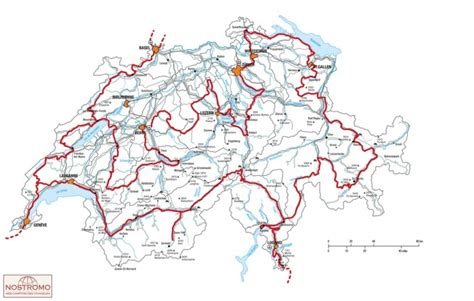 Motorrad Routenplaner Map Guide by Grand Tour De Suisse Carte Touristique Nostromoweb