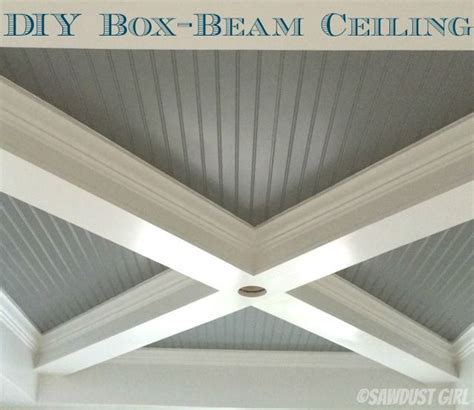 boxed ceiling beams how to build a box beam ceiling cabin in the woods