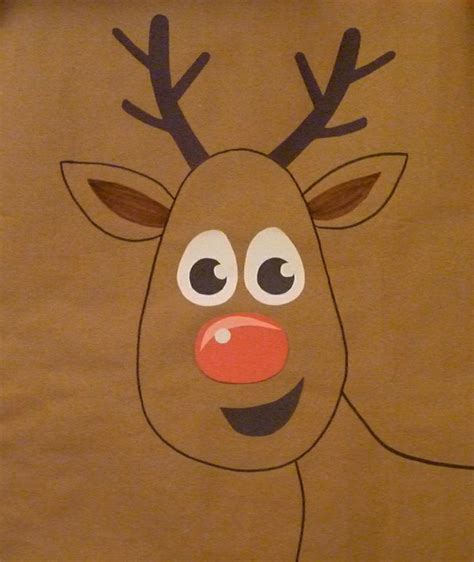 printable pin the nose on rudolph search results