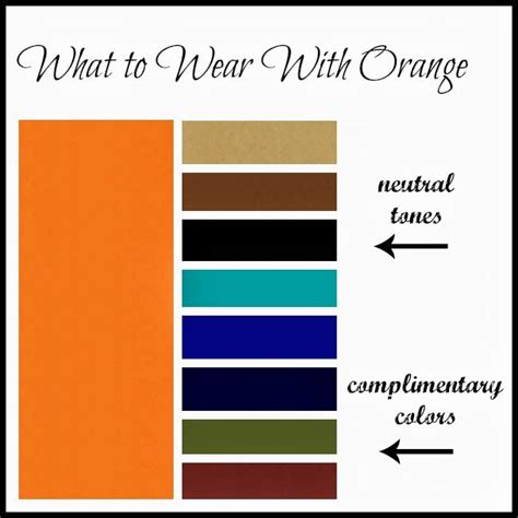 colors that match with orange clothed with grace what to wear with orange clothed