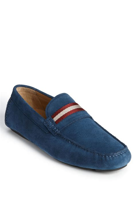 mens bally loafers bally wabler loafer in blue for azure blue lyst