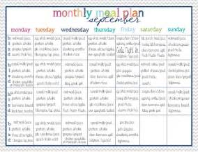 monthly dinner menu template the house on hillbrook clean menu planning and