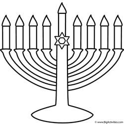 menorah template menorah coloring page hanukkah