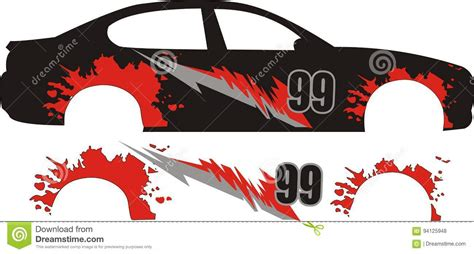 Car Design Sticker Download by Vector Car Sticker Racing Design Stock Vector