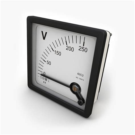 Voltmeter Panel Jarum Dc 15 Volt panel dc voltmeter 3d max