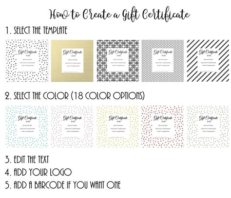customizable gift certificate template gift certificate template with customizable background and