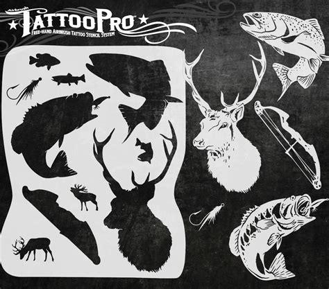 pro black tattoos pro stencil fishing atps143