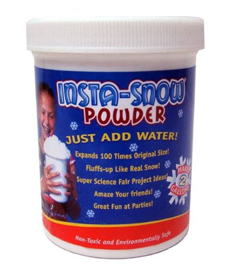 insta snow powder just add water import it all