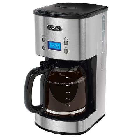 sunbeam kitchen appliances sunbeam 174 12 cup programmable coffeemaker stainless steel