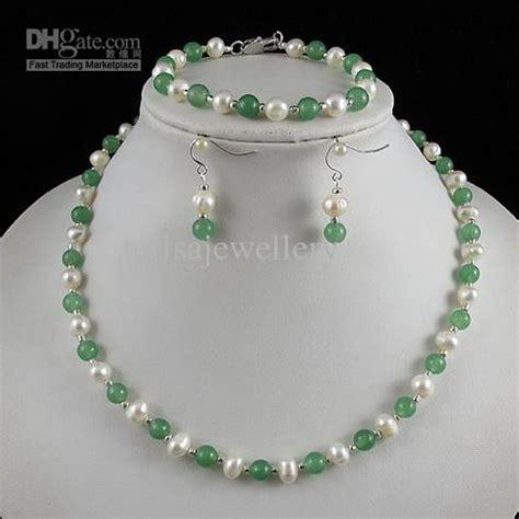 2018 Nice Pearl Jewelry Set Aa 6 7mm White Genuine
