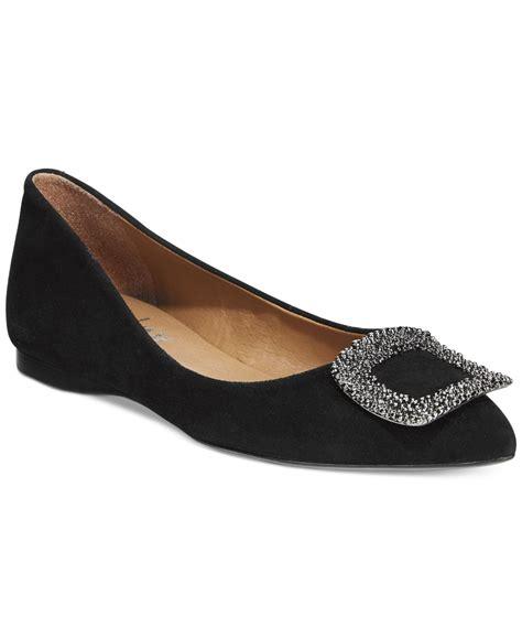 Flat Shoes Wanita Suede Lucuunikmurah sole posh suede flats in black lyst