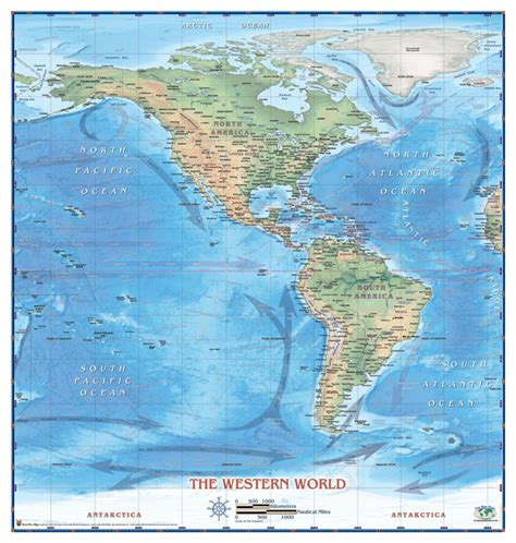western hemisphere map by compart