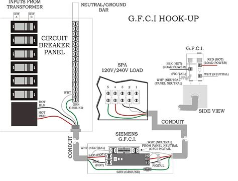 220 breaker wiring diagram ground fault breaker wiring