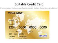 Template Credit Card Gold Platinum Credit Card Template