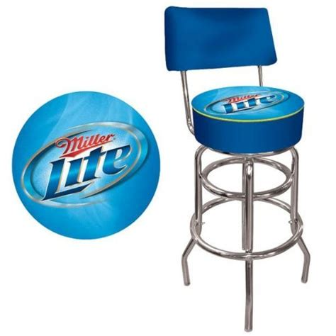 Cheap Padded Bar Stools by Trademark Miller Lite Padded Bar Stool With Back Cheap
