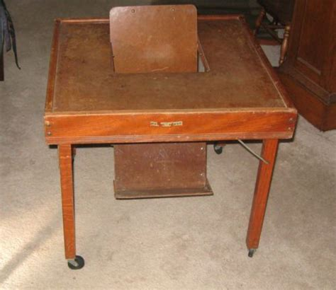antique babee tenda 1940 s baby play activity table chair