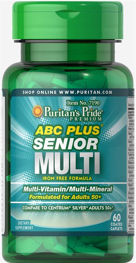 Puritan Abc Plus Senior Multivitamin Mineral 120cap abc plus 174 senior multivitamin multi mineral formula 60 caplets senior health puritan s pride