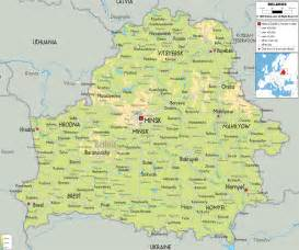 www map physical map of belarus ezilon maps