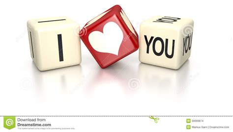 printable love dice i love you dice stock images image 30699874