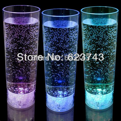 Nostalgia Lighted Punch Beverage Set by Free Shipping 10pcs Ps 450ml Led Drink Glass Led
