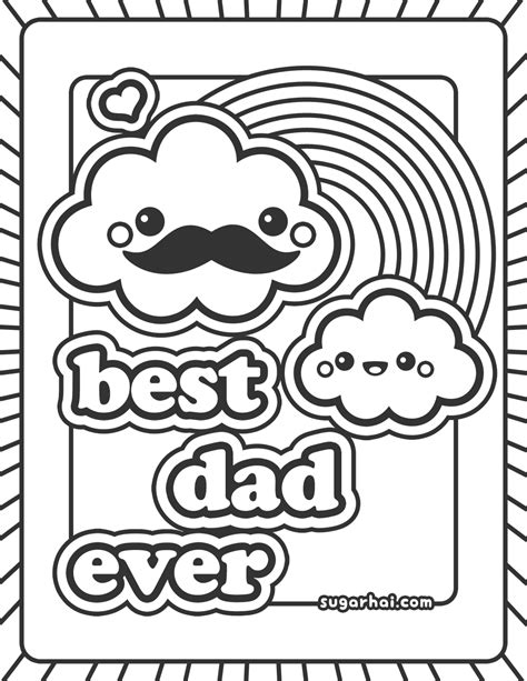 free best dad ever coloring page dads cloud and digi sts